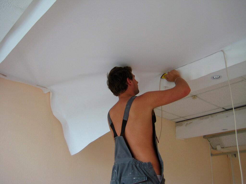 Натяжной потолок своими руками рисунок 541
