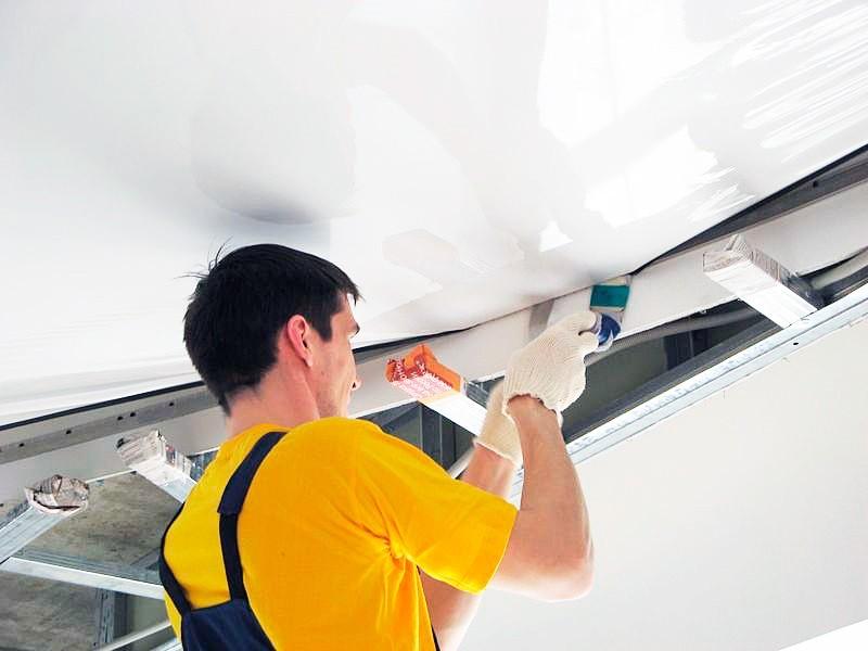 Как сделать натяжной потолок своими руками рисунок 550