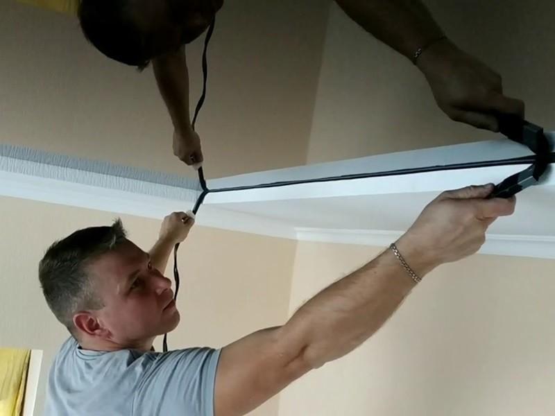 Как сделать натяжной потолок своими руками рисунок 564