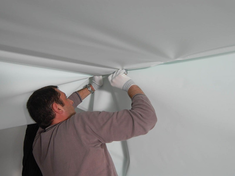 Как сделать натяжной потолок своими руками рисунок 566