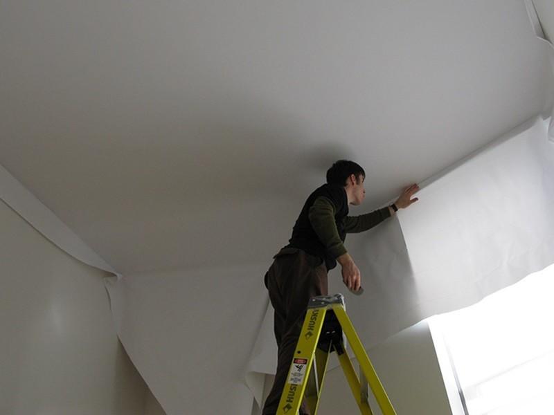 Как сделать натяжной потолок своими руками рисунок 565