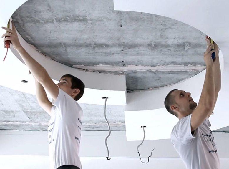 Как сделать натяжной потолок своими руками рисунок 554