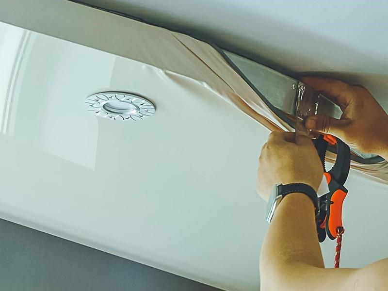 Как сделать натяжной потолок своими руками рисунок 551