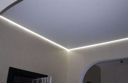 Парящие натяжные потолки с подсветкой рисунок 441
