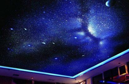 Натяжные потолки со звездным небом рисунок 442