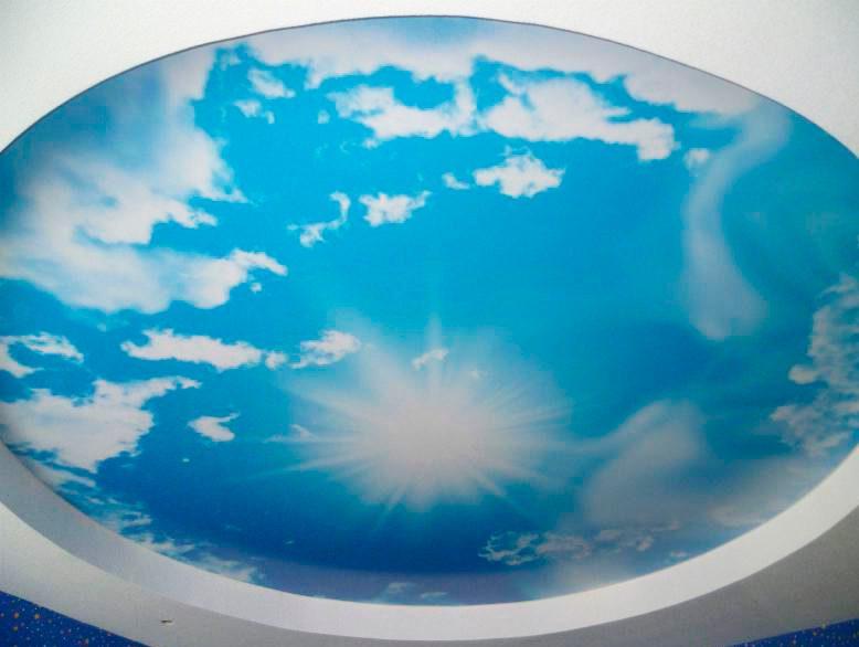 Натяжные потолки небо и облака рисунок 684