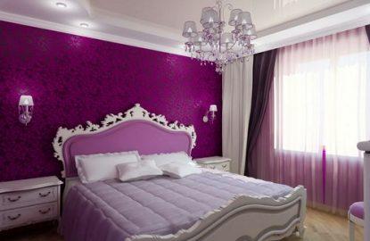 Натяжные потолки в спальне в Москве и Области рисунок 1049