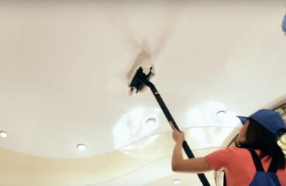 Как почистить натяжной потолок рисунок 813