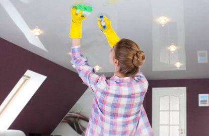 Как ухаживать за натяжными потолками рисунок 817