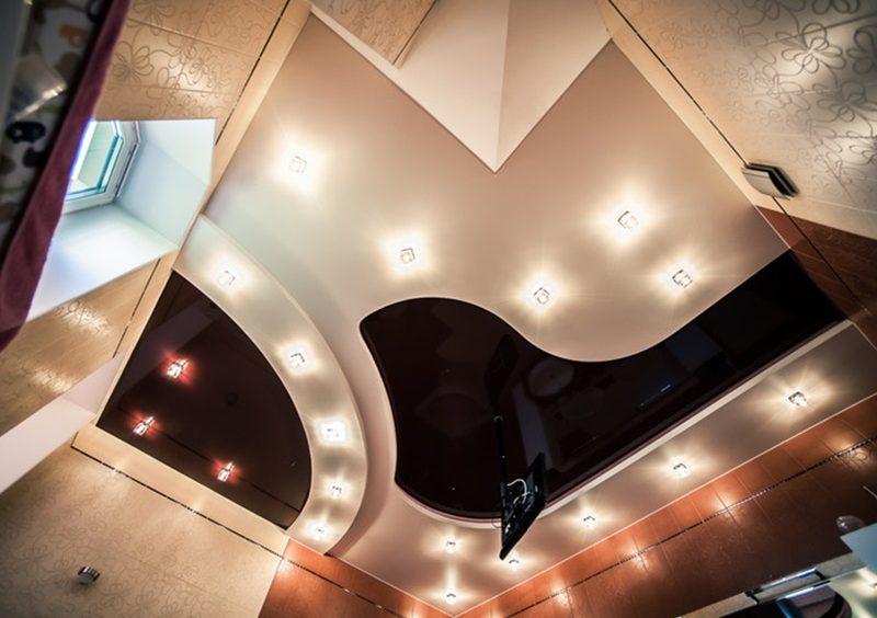 Виды натяжных потолков рисунок 777