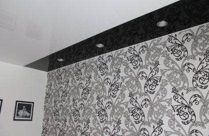 Черно-белые натяжные потолки рисунок 1270