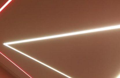 Натяжные потолки со световыми в Москве и Области рисунок 1