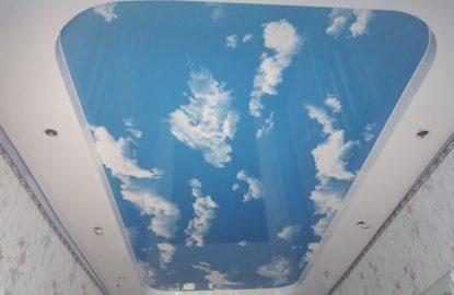 Натяжные потолки небо с облаками рисунок 1391