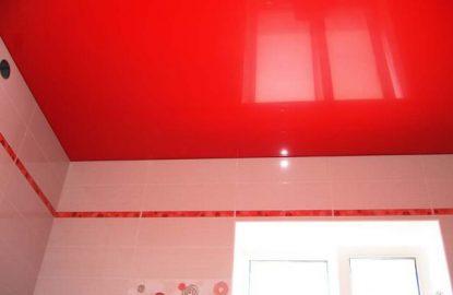 Красные натяжные потолки в Москве и Области рисунок 1228