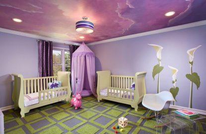 Натяжные потолки в детскую комнату рисунок 1080