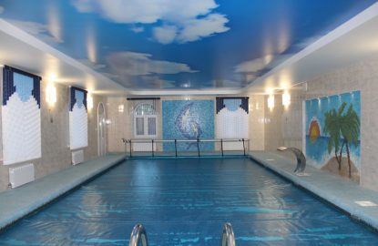 Натяжные потолки в бассейне в Москве и Области рисунок 1106