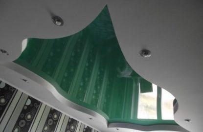 Зеленые натяжные потолки рисунок 1209