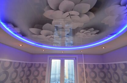 Натяжные потолки 3D рисунок 3391